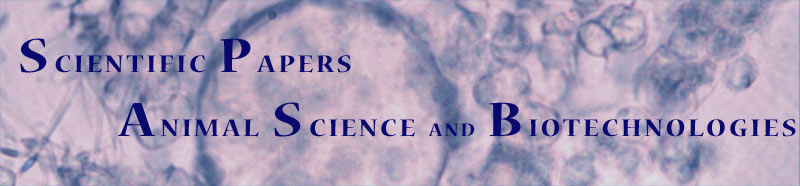 Scientific Papers Animal Science and Biotechnologies